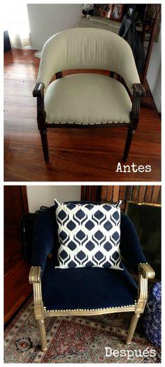 Antes y Después: La silla del mercado de pulgas de Martha Sinning : x4duros.com
