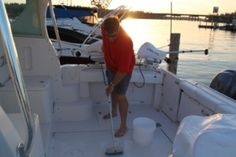 Boat Cleaning 101 Scrubbing the boat