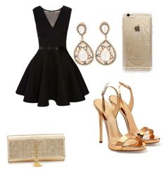"""""""Brithday party"""" by tereza-99 on Polyvore featuring Giuseppe Zanotti, Rifle Paper Co and Yves Saint Laurent"""