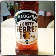 Badger Fursty Ferret Amber Ale - 4.4% ABV - sweet nutty palate, hoppy aroma and a hint of Seville oranges