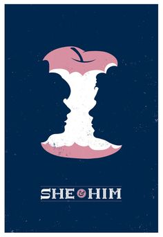 She & Him poster by Chris DeLorenzo
