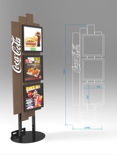 Diseño de PLV | POP POS Retail Design Coca Cola, Standing Signage, Retail Shelving, Point Of Purchase, Display Design, Itunes, Bookends, Cabinet, Storage