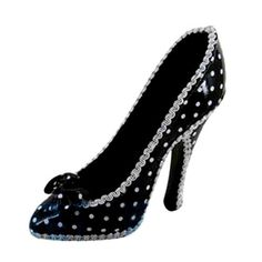 West East Imports, BOW Ring Holder Shoe Polka DOT (Black) [Price: $] - This is a jewelry holder for your beloved necklaces, bracelets, earrings and even keys. It can be a nice decoration for your bedroom, living room, office desk or anywhere you like. Product Features  West East Imports, BOW RING HOLDER SHOE POLKA DOT Material: Made of polyresin, fabric and ...