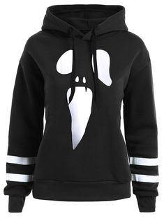 b717516e148 Halloween Plus Size Pullover Drop Shoulder Graphic Hoodie