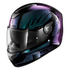 Shark D-Skwal Dharkov KVX- Metallic Purple and Blue for Sale at Flitwick Motorcycles Purple Motorcycle Helmet, Womens Motorcycle Helmets, Girl Motorcycle, Motorcycle Quotes, Street Bike Helmets, Street Bikes, Moto Violet, Gif Motos, Pictures Of Sports Cars