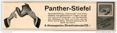 Original-Werbung/Inserat/ Anzeige 1912 - PANTHER-STIEFEL / ATMANSPACHER EHRENFRIEDERSDORF  ca. 45 X 180 mm
