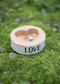 Rustic Love Ring Bowl, Style DBK33322 #davidsbridal #rusticweddings