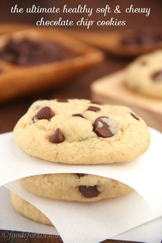 These buttery Chocolate Chip Cookies are so soft and chewy! No one would ever guess they're secretly skinny & low in fat. You'll never use another recipe!