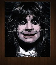 BLACK SABBATH Ozzy Osbourne drawing 1 OIL-ACRYLIC ON CANVAS PAINTING  *Please see details at http://www.collectorware.com.ar/canvas-blacksabbath_ozzy.htm