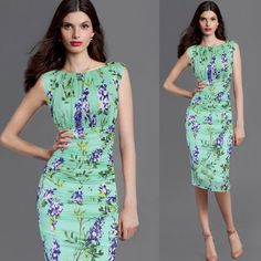 Vfemage Womens Elegant Summer Ruched Draped, Floral Flower Printed, Tunic Casual ,Party Bodycon, Fitted Sheath Pencil Dress