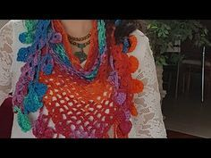 Crochet Shawl, Knit Crochet, Hairpin Lace, Hair Pins, Cowl, Diy And Crafts, Crochet Necklace, Scarves, Youtube