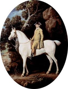 George Stubbs, Self Portrait, 1782 - I'd like to point out the interesting fact that riders finally learned to keep their heels down at this time