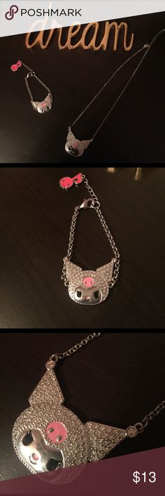 Cute set of a hellokitty necklace and bracelet Super cute and trendy! It is an obvious must have Sanrio Jewelry