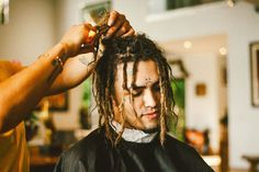Lil Pump Dreads - Popular Rappers with Dreads: Dreadlock Styles For Black Men #menshairstyles #menshair #menshaircuts #menshaircutideas #menshairstyletrends #mensfashion #mensstyle #fade #undercut #barbershop #barber #rappers #hiphop #music #blackmen #celebrities Black Men Haircuts, Black Men Hairstyles, Popular Hairstyles, Cool Haircuts, Popular Rappers, Dreadlock Styles, Front Hair Styles, Lil Pump, Hip Hop Artists