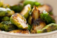 Simple Buttery Brussels Sprouts / @DJ Foodie / DJFoodie.com