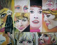 Downtown ...Petula Clark....in acrylic by TOM