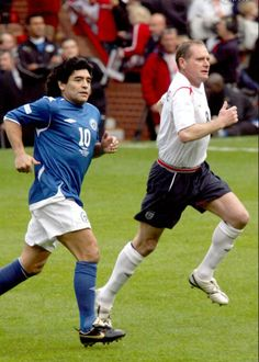 Paul Gascoigne with Maradona.