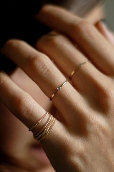 GABRIELA ARTIGAS 14K Mini Diamond Ring...LOVE these!