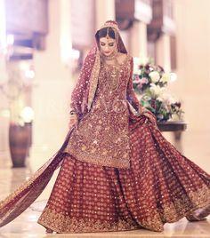 Barat bride ( bunto kazmi is the designer) Bridal Mehndi Dresses, Beautiful Bridal Dresses, Asian Wedding Dress, Pakistani Wedding Outfits, Indian Bridal Outfits, Bridal Lehenga Choli, Wedding Dresses For Girls, Pakistani Wedding Dresses, Bride Dresses