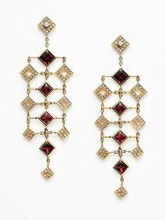 Quadria 18K Rhodolite & Diamond Earrings by Di MODOLO at Gilt