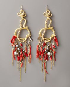 Alexis Bittar Coral Chandelier Earrings - most amazing earrings ever!!!!
