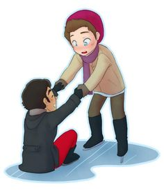 Blaine doesn't know how to skate. Kurt does by theplaylistismagic
