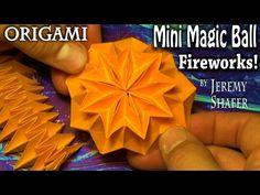 Origami MAGIC BALL - with zig zag pattern (Raman) - YouTube