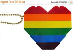 ON SALE Collectible heart Double thickness Model 1  made #MademoiselleAlma #LEGO #ETSY