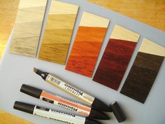 David Neat discusses TWO wood staining methods 1. selection of shoeshines 1.  Letraset ProMarkers