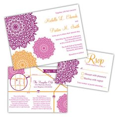 Moroccan Wedding Invitations by ImpressInk on Etsy, $50.00