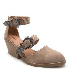 Look what I found on #zulily! Stone Zora Ankle-Strap Sandal #zulilyfinds