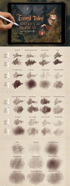Texture Brushes for Procreate By BocadebraShop. These brushes are for the iOS app Procreate 4 and for use with the iPad Pro and Apple Pencil (or compatible STYLUS). Lettering For Beginners, Doodle Art For Beginners, Digital Painting Tutorials, Digital Art Tutorial, Ios App, Brush Texture, Brush Vector, Computer Kunst, Application Ios