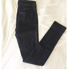 Dark Blue Denim Skinny Jeans Hear are comfortable excellent condition denim jeans in a very dark blue most black color. {very light light colored mark on back thigh, bought like that} JC & JQ Pants Skinny