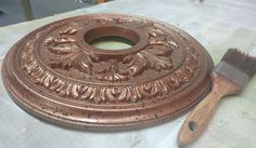 Behind the Scenes: Ceiling Medallions with Finishes - https://blogs.architecturaldepot.com/behind-scenes-ceiling-medallions-finishes/