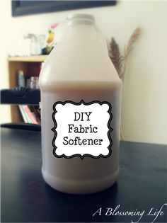 A Blossoming Life: Homemade Natural Fabric Softener