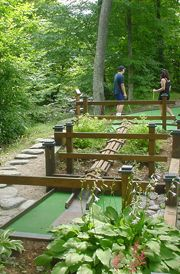 Golf Courses Mini golf at Smugglers' Notch Resort - Smugglers' Notch Resort's mini golf course, located in a beautiful wooded creekside setting, is fun for all ages. Putt Putt Golf, Miniature Golf, Best Golf Courses, New Golf, Golf Training, Golf Tips, Vermont, Game Room, Golf Clubs