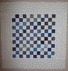 """1"""" squares - finished size 18"""" - love the color combo"""