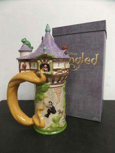 Disney Tangled Rapunzel Tower Beer Stein Mug Maquette Crew Animation Figurine Tangled Rapunzel, Disney Tangled, Disney Coffee Mugs, Disney Cups, Disney Rooms, Disney Kitchen, Disney Merchandise, Cute Mugs, Disney Inspired