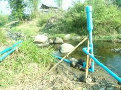 Ram pumps are fossil fuel-free water pumps that provide an environmentally friendly alternative of pumping water uphill. They are simple and cheap to build and anyone can do it! - from Permapai
