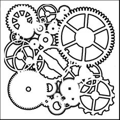 The Crafter's Workshop - 12 x 12 Doodling Templates - Gears