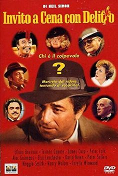 Murder by Death featuring Peter Falk, David Niven, Peter Sellers, Maggie Smith, Eileen Brennan & Truman Capote.I loved this movie! Great Films, Good Movies, Amazing Movies, Eileen Brennan, Nancy Walker, Murder By Death, David Niven, Peter Falk, Alec Guinness