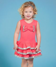 Another great find on #zulily! Coral Pop Goes the World Dress - Infant, Toddler & Girls #zulilyfinds