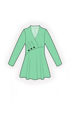 Tunic - Sewing Pattern #4778. Made-to-measure sewing pattern from Lekala with free online download.