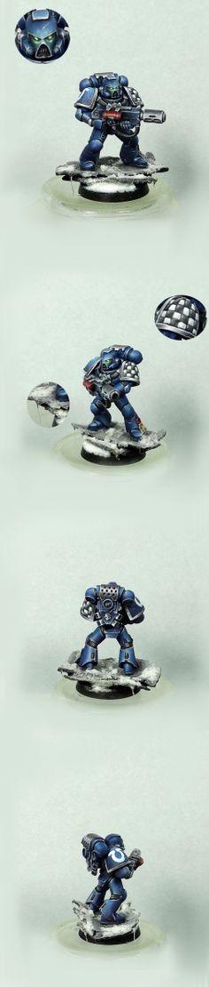 Ultramarine with Melta Gun