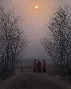 Easter Morning. ca. 1828-1835         Kaspar David Friedrich ( 1774-1840, German Romantic рainter,  Oil on canvas, 43.7 x 34.4 cm, Museo Thyssen-Bornemisza, Madrid ).