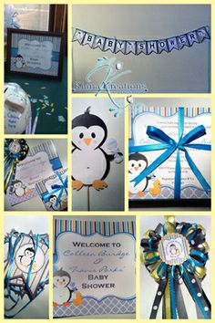 Penguin Theme Baby Shower Party Ensemble Collage 1A Www.facebook.com/kiana.
