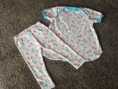Baby Girl Tunic Top and Leggings outfit in Floral and Turquoise by DMJDesigner on Etsy