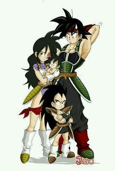 Bardock, Gine, Radditz, & Son Goku.