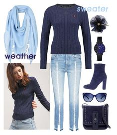 Sweater weather by amisha73 on Polyvore featuring moda, Frame, Steve Madden, Lucky Brand, Lanvin, Tory Burch and Giorgio Armani