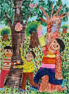 아동미술 - Google 검색 Art Lessons For Kids, Art For Kids, Drawing For Kids, Painting For Kids, Spring Art, Art Education, Illustrators, Paper Art, Art Projects